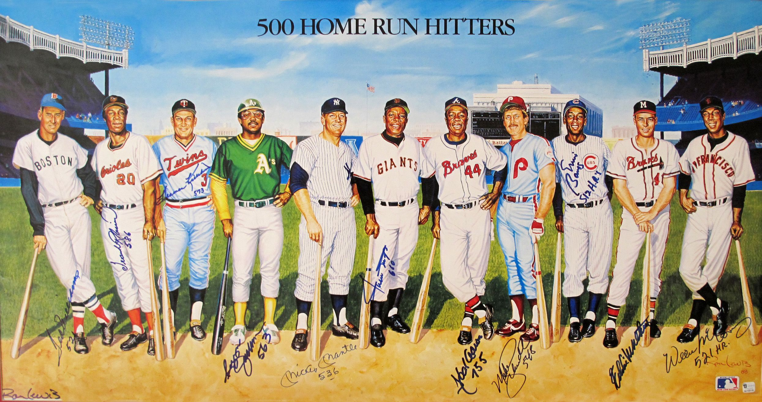 500 home run club picture and autograph.