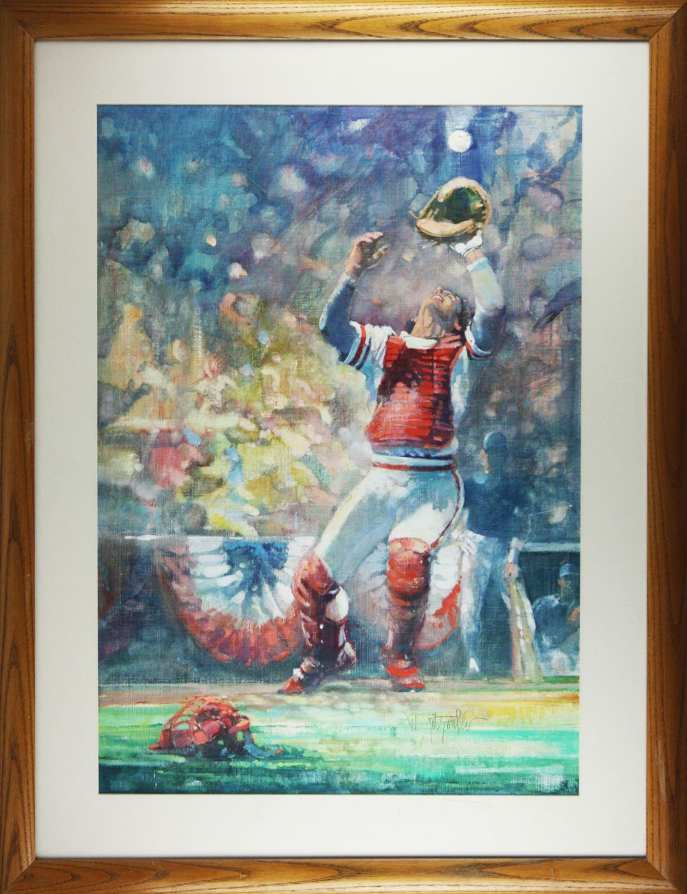 Lot Detail Original Oil Painting Used For Cover Of 1985 World Series Program
