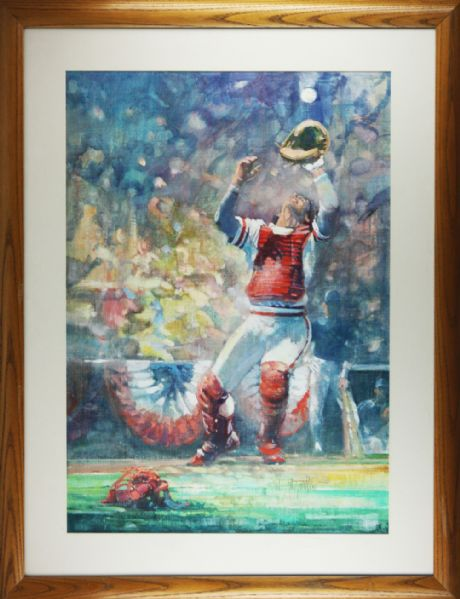 Original Oil Painting Used for Cover of 1985 World Series Program