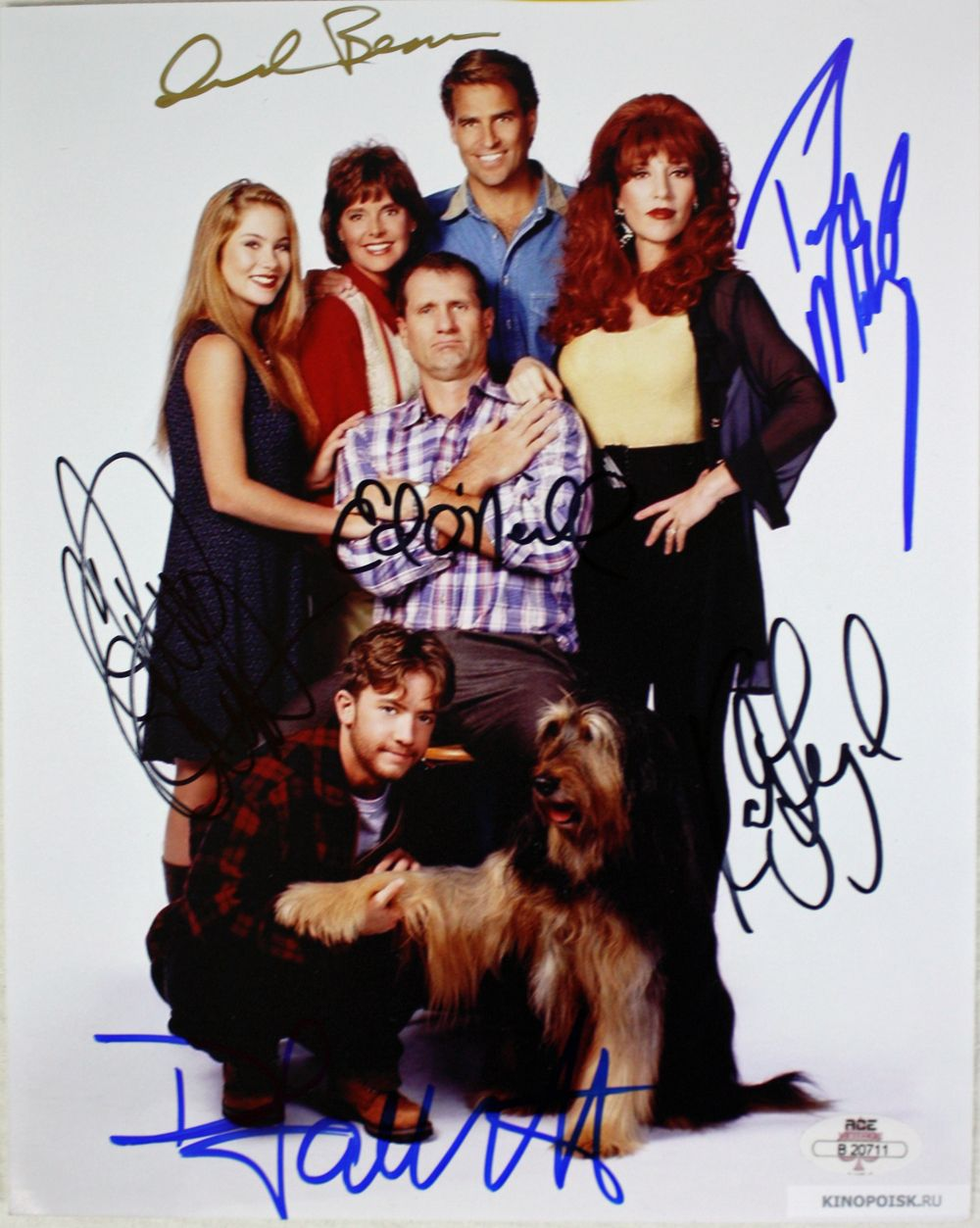 Married With Children Cast Signed 8 X 10 Color Photo 6 Sigs