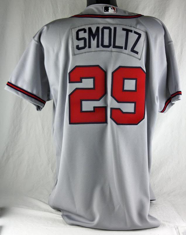 best authentic 6261f 8417f Lot Detail - 2003 John Smoltz Game Used Atlanta Braves Road ...
