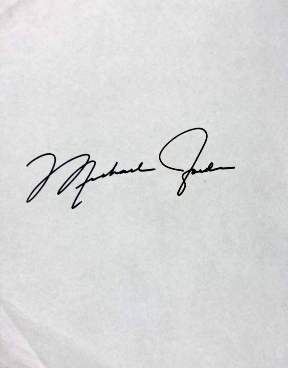 Michael Jordan Signed 8 X 11 Sheet With Rare Every Letter Signature Ex
