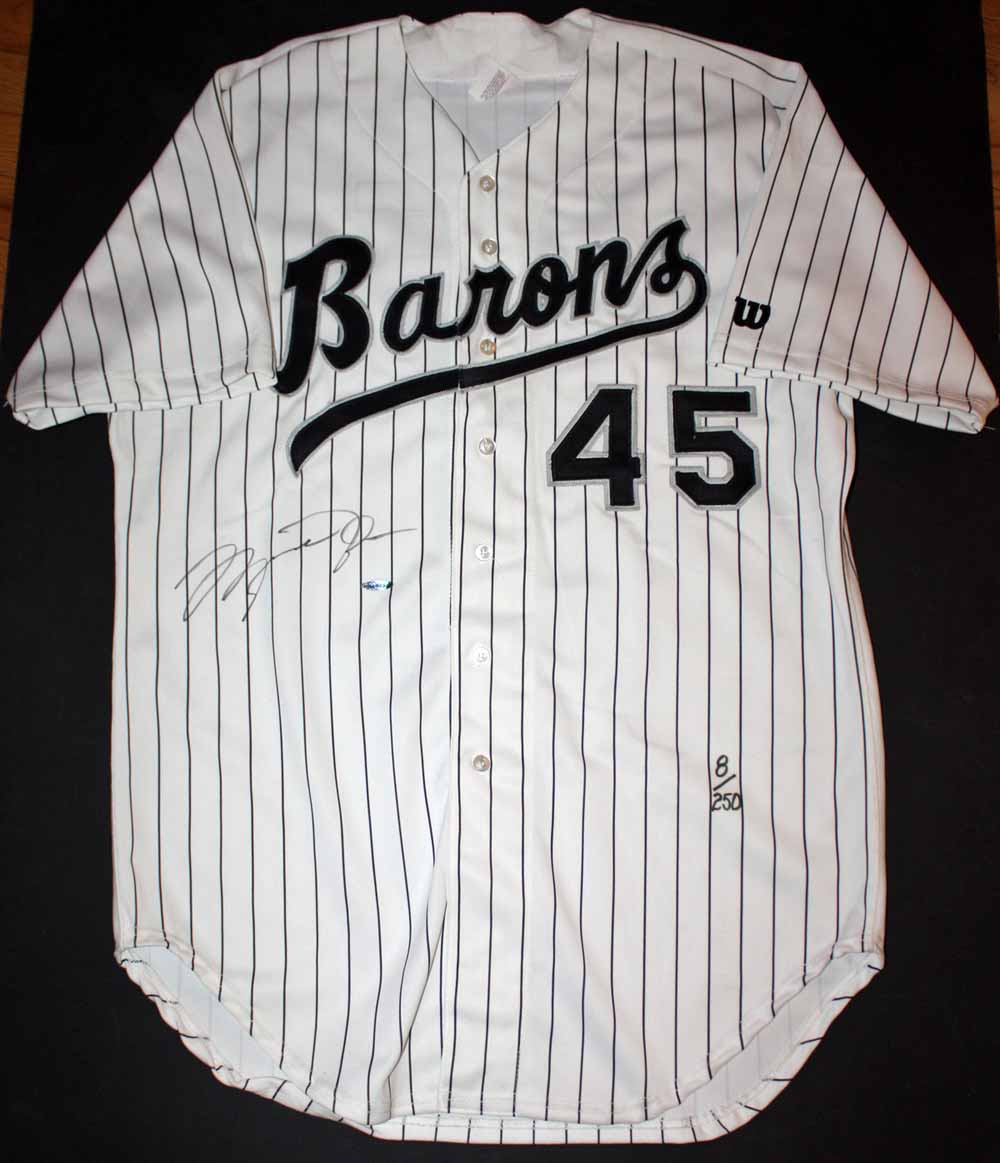 best authentic 99b65 0cc3d Michael Jordan Limited Edition Birmingham Barons Game Model Baseball Jersey  ( 8 250) ...