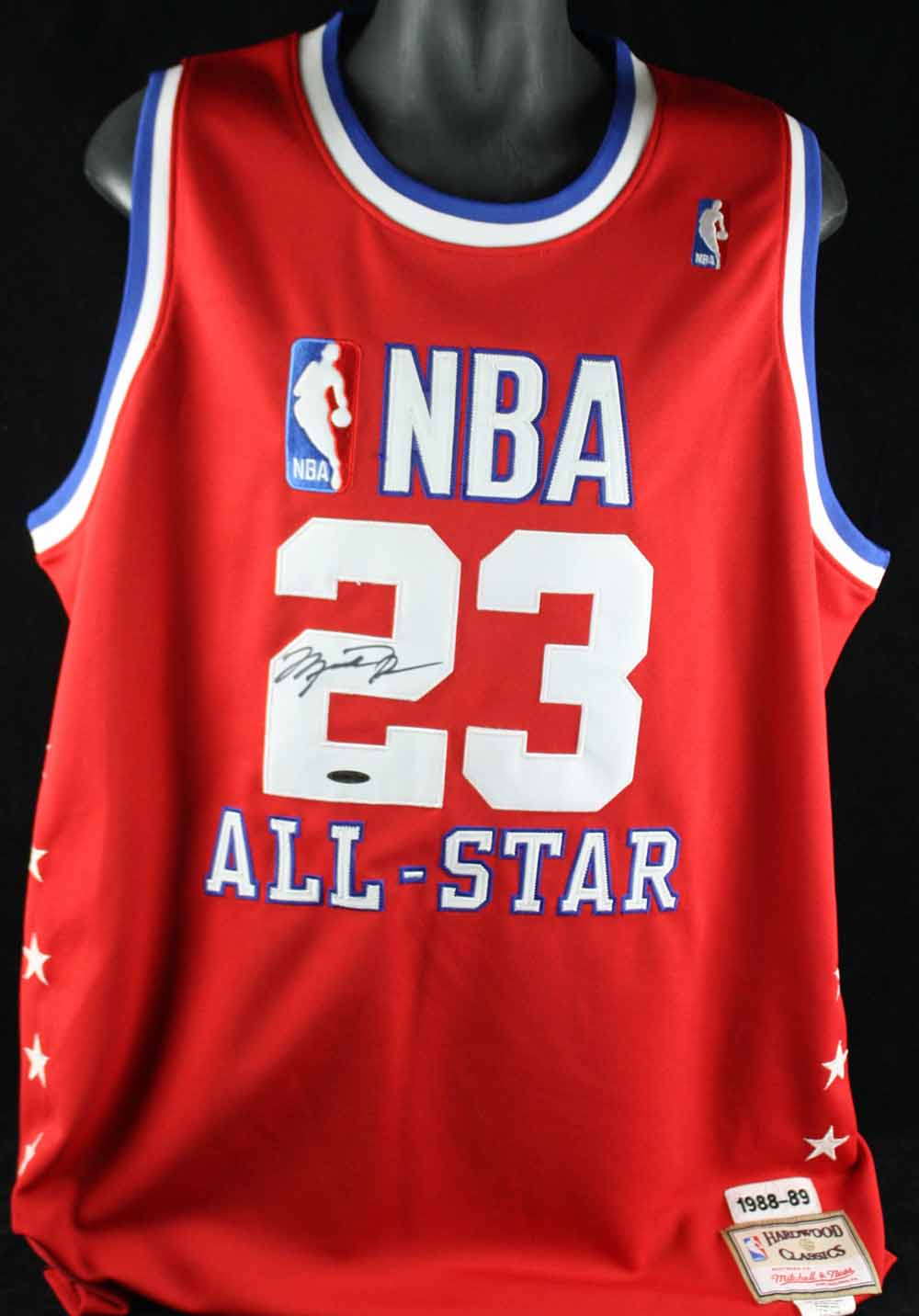 8f290cfe1c4 Michael Jordan Rare Front-Signed 1988-89 NBA All-Star Game Mitchell ...