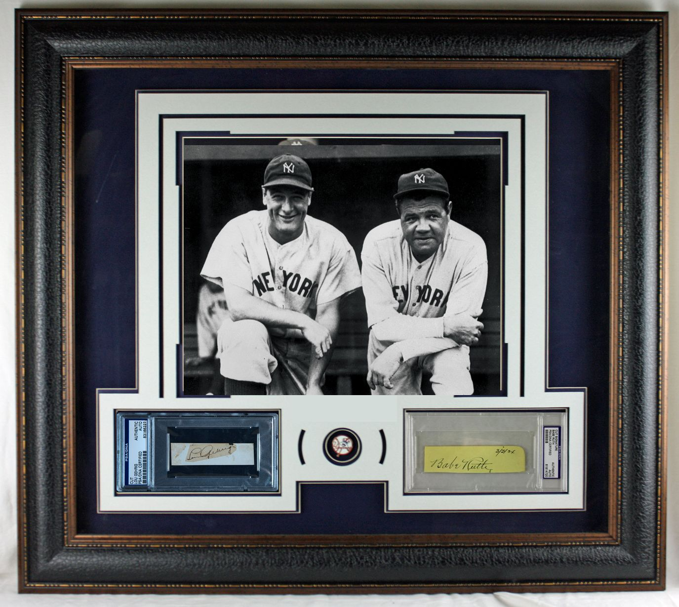 1ee82be2f Yankee Icons: Babe Ruth & Lou Gehrig Choice Ink Signatures in a Custom  Framed Display ...