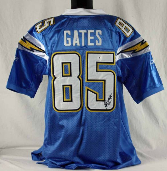 San Diego Chargers Gates: Antonio Gates Signed San Diego Chargers Jersey