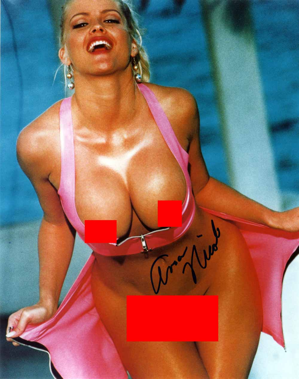 Lot Detail Anna Nicole Smith Sexy Signed 8 X 10 Color Nude Photo