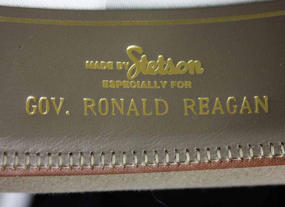 194332cbd1ad6 ... President Ronald Reagan Custom Made   Personally Worn Stetson Cowboy Hat  (as Governor of CA ...