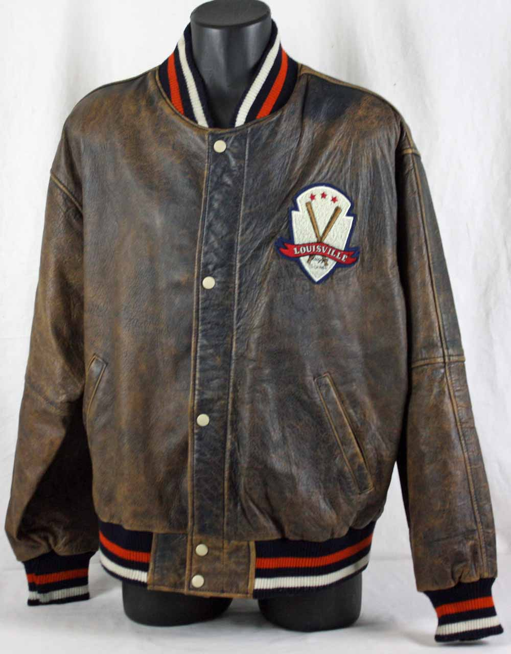 Tony Gwynn Personally Owned & Worn Louisville Slugger Leather Jacket