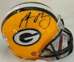 PACKERS AARON RODGERS AUTHENTIC SIGNED MINI HELMET