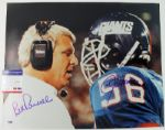 BILL PARCELLS & LAWRENCE TAYLOR SIGNED AUTHENTIC 16X20 PHOTO PSA/DNA
