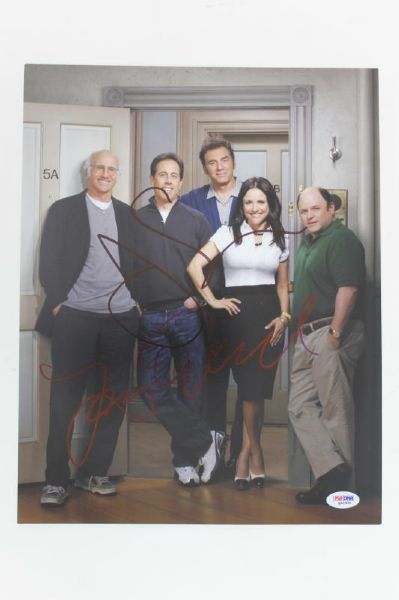 JERRY SEINFELD & LARRY DAVID SIGNED AUTHENTIC 11X14 PHOTO PSA/DNA