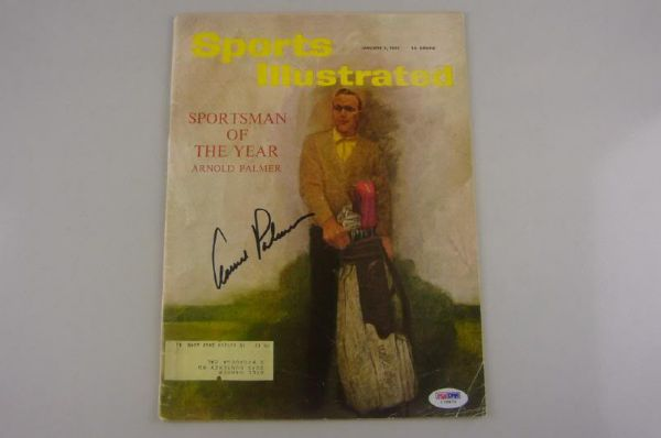 ARNOLD PALMER SIGNED 1961 SPORTS ILLUSTRATED MAG