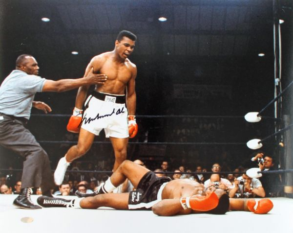 Muhammad Ali Signed 16 x 20 Color Photo (Liston KO)(Steiner Hologram)