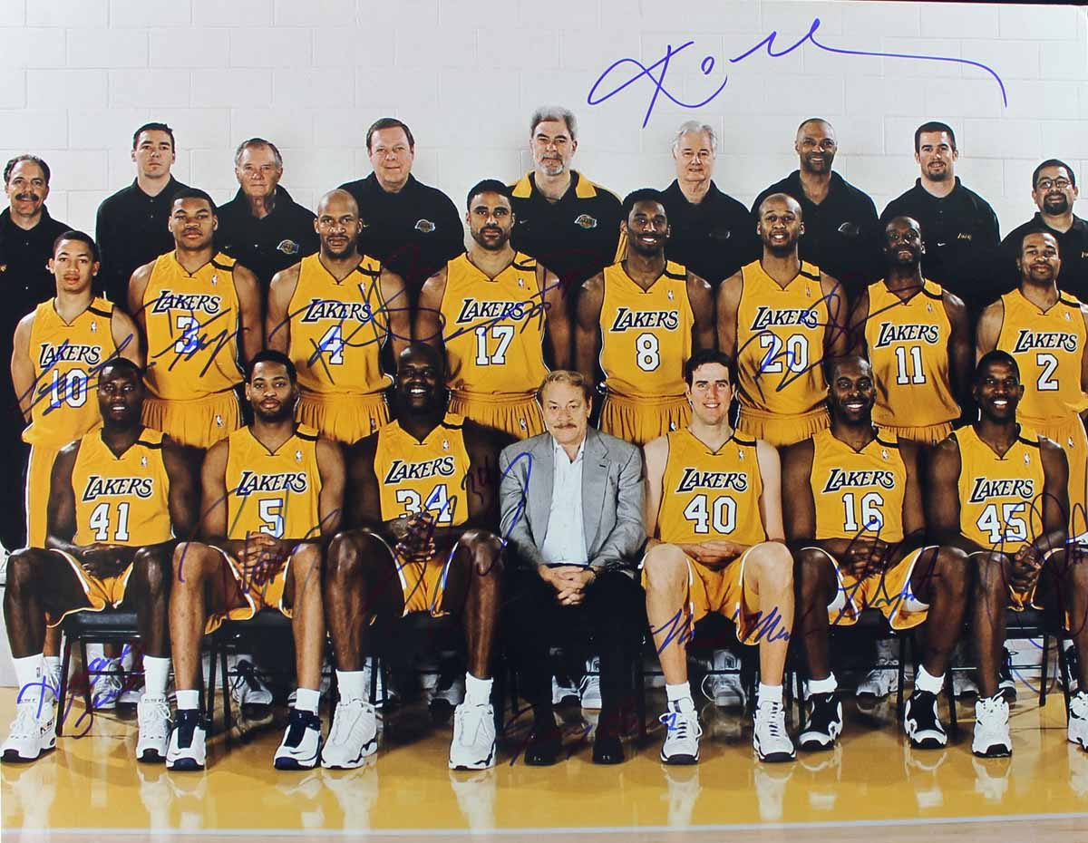 Lot Detail - 1999-2000 L.A. Lakers Team Signed 16