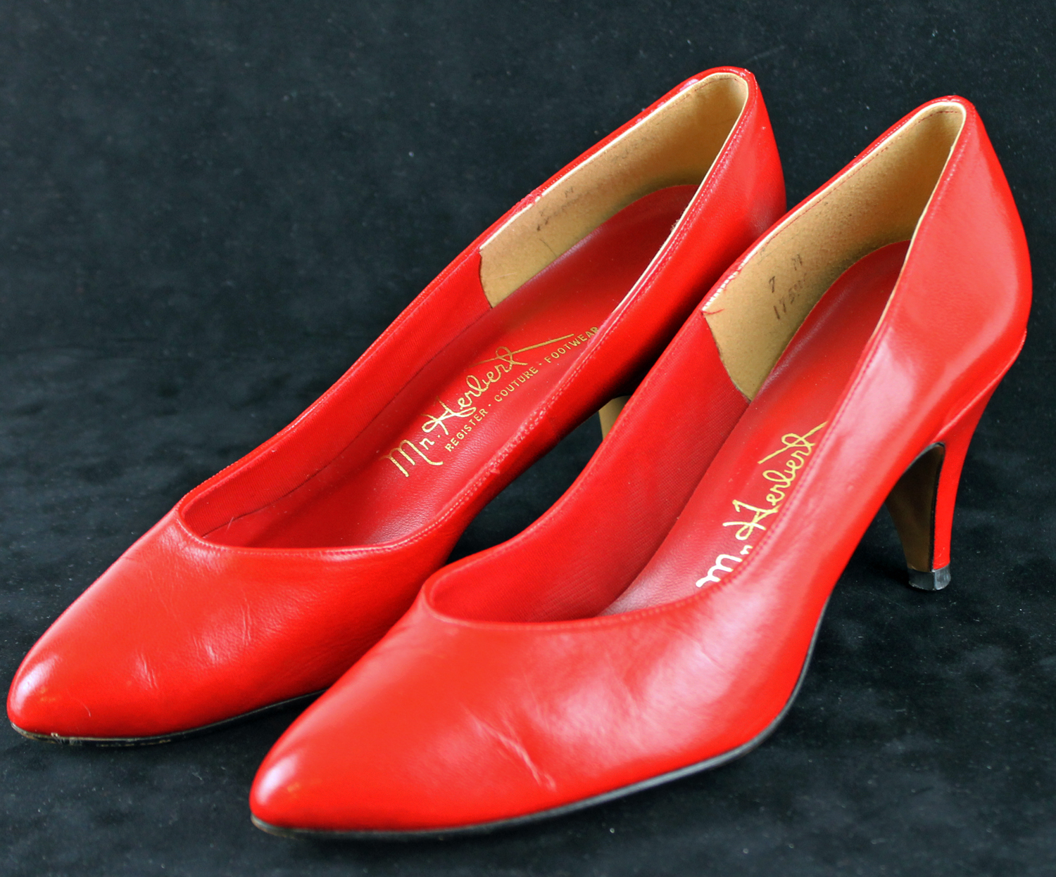 Marilyn Monroe Personally Owned Worn Red High Heel Shoes Ex