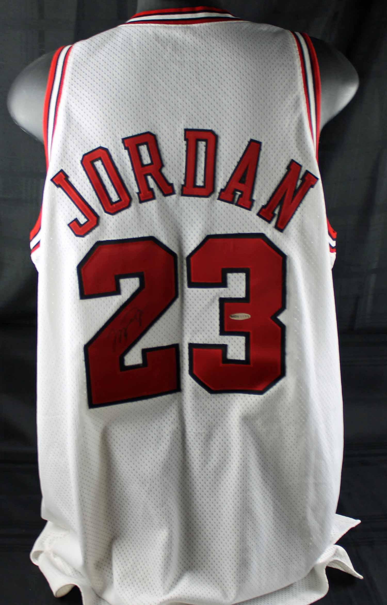 9918af9955357d ... Michael Jordan Game Worn   Signed 1997-98 NBA Finals Jersey (Nike  Letter ...