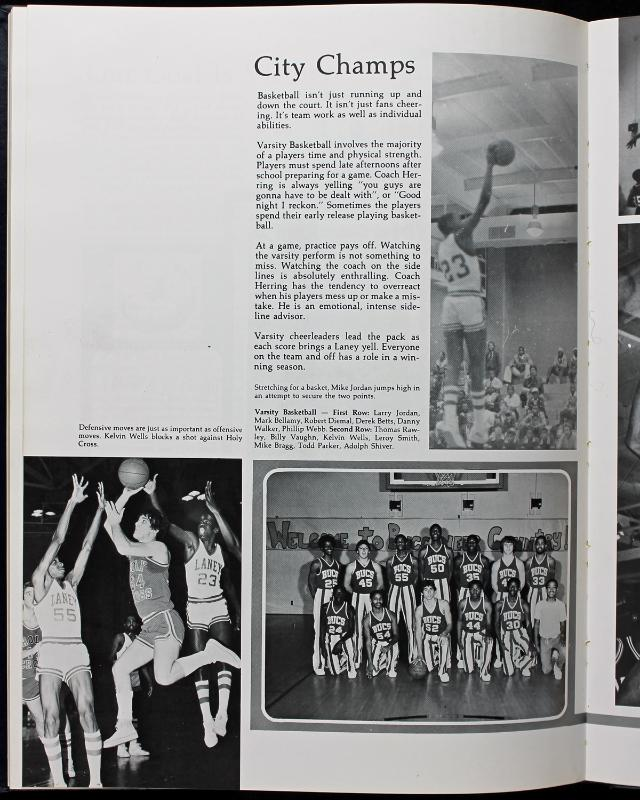 lot detail 1980 michael signed laney high school yearbook