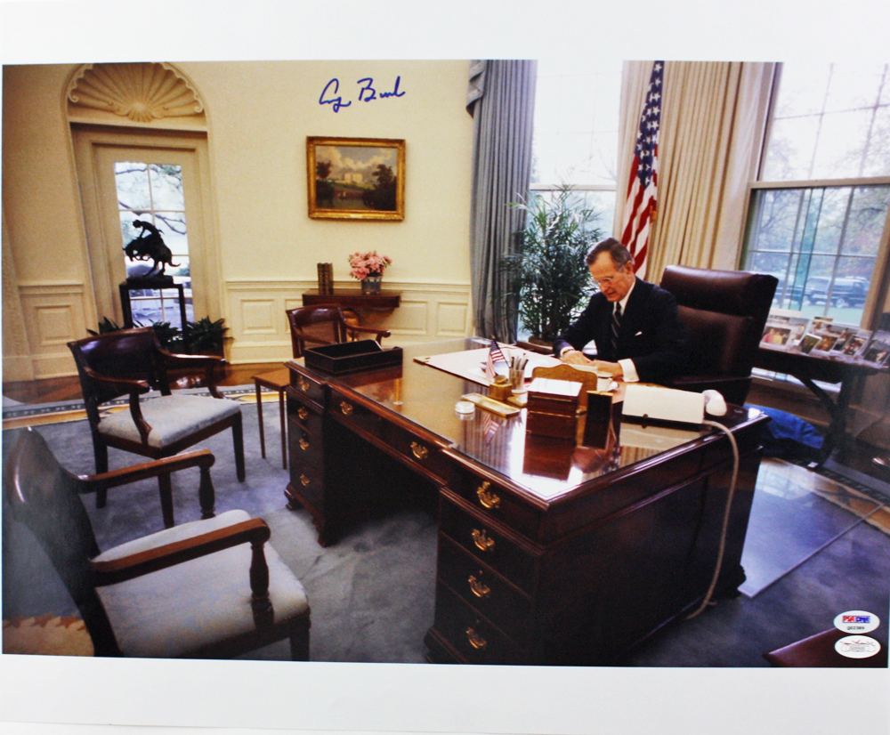 oval office fireplace. George Bush Oval Office. President H.w. Superb Signed 16 X 20 Color Photo Office Fireplace