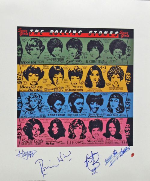 Lot Detail The Rolling Stones Group Signed 23 Quot X 27