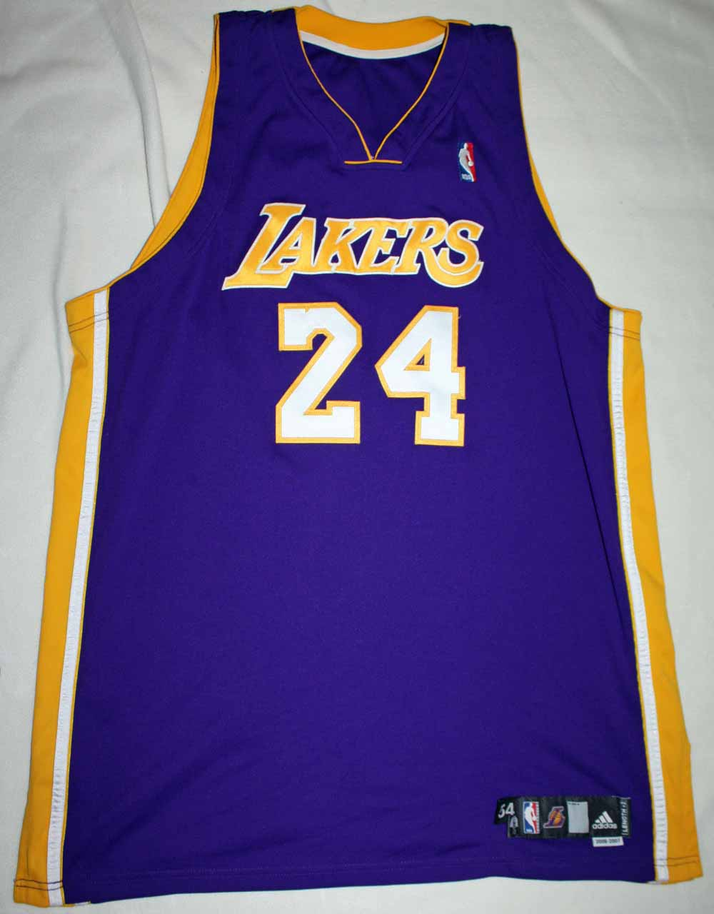44bc59157aa ... 2006-07 Kobe Bryant Game Worn   Signed L.A. Lakers Jersey (DC Sports)  ...
