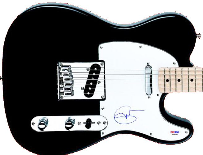 lot detail eric clapton signed telecaster style electric guitar psa dna. Black Bedroom Furniture Sets. Home Design Ideas