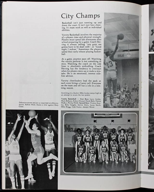 new product 9385a da6a6 ... 1980 Michael Jordan Signed Laney High School Yearbook (Junior Year)(JSA)