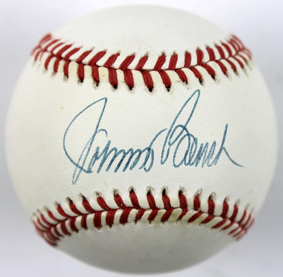 Lot Detail Johnny Bench Signed Onl White Baseball Psa Dna