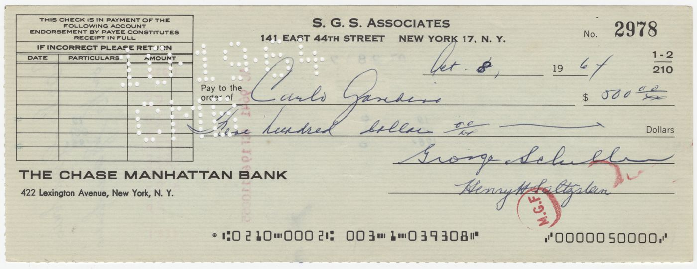 Iconic Memorabilia - 800.325.7127Carlo Gambino Twice Signed Bank Check (PSA/DNA)All > History > Autographs > Notable Names