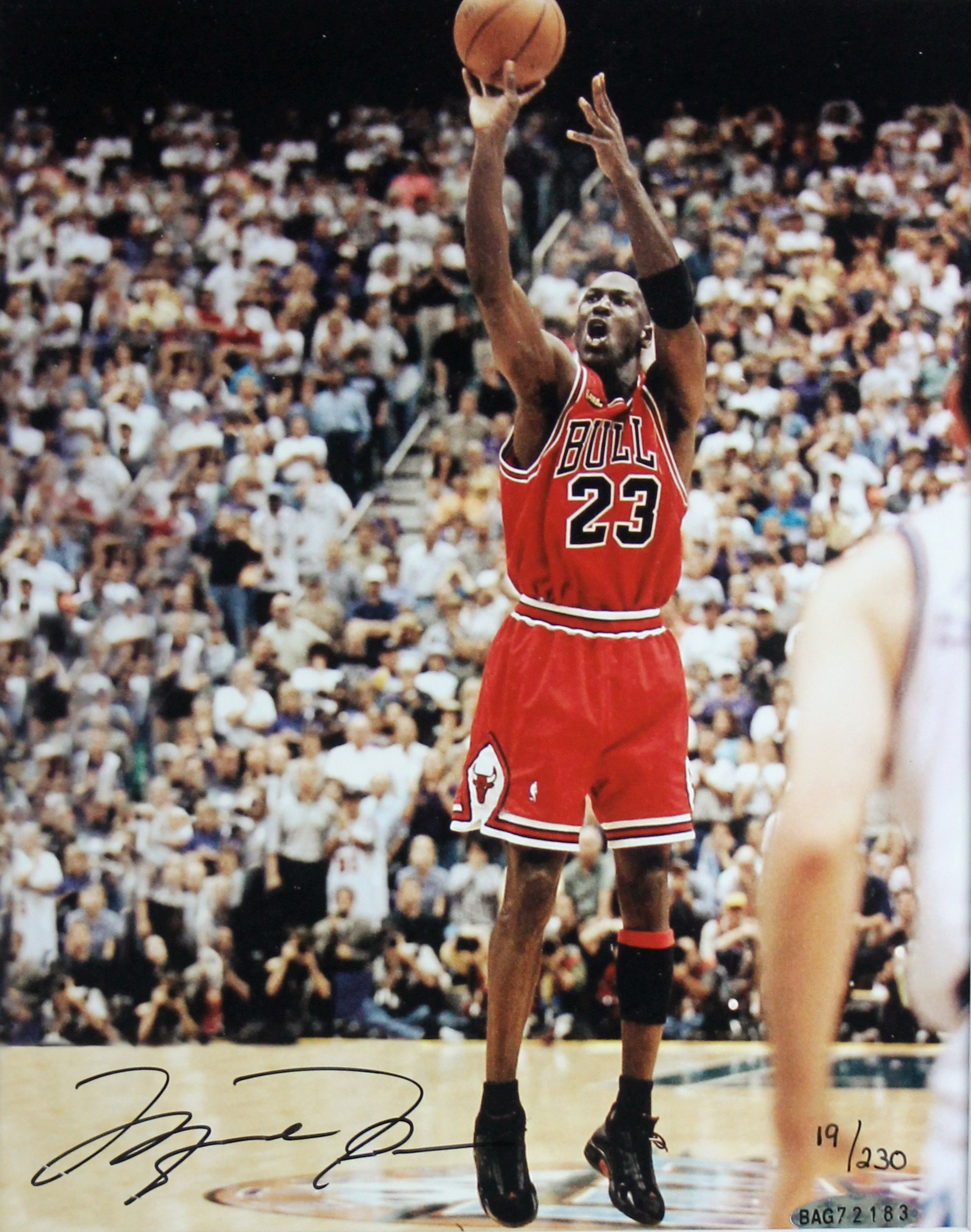 Lot Detail - Michael Jordan Limited Edition 1998 Finals Floor Display with Signed 8x10 Photo ...