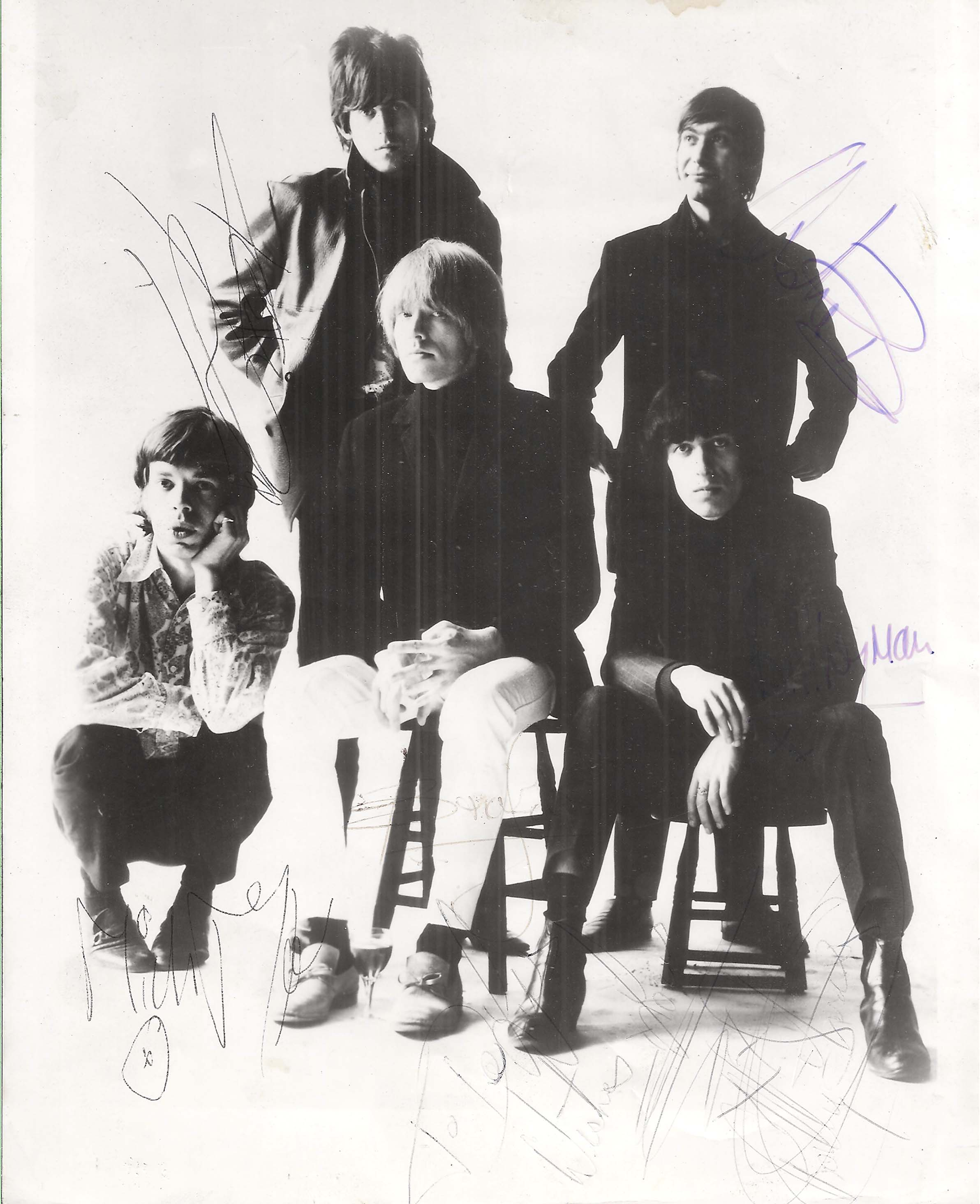 Lot Detail The Rolling Stones Rare Group Signed 8 Quot X 10