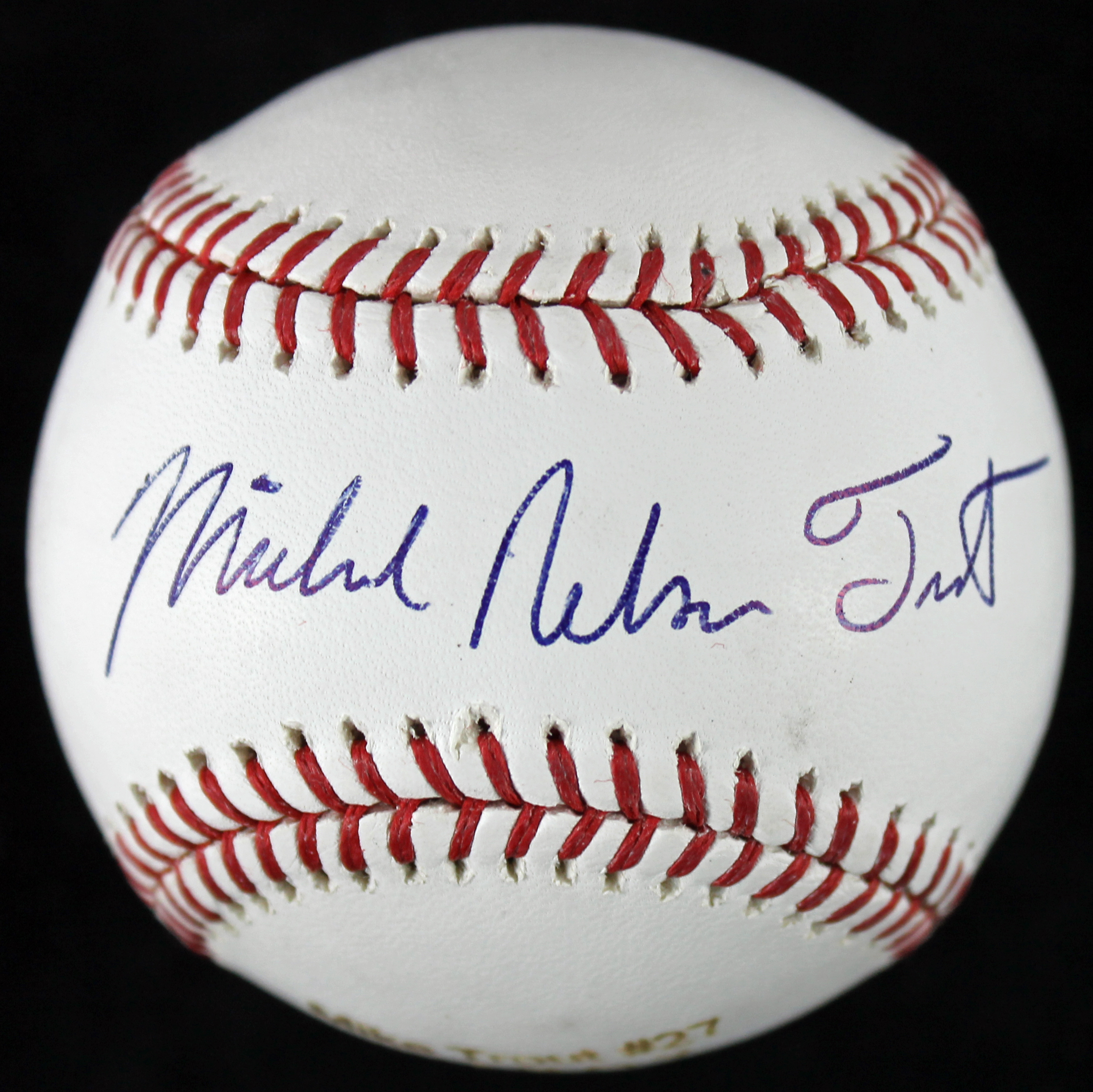 f6d98e595c4 Mike Trout Signed OML Custom Engraved Baseball with full Michael Nelson  Trout Sig (MLB Authentication ...