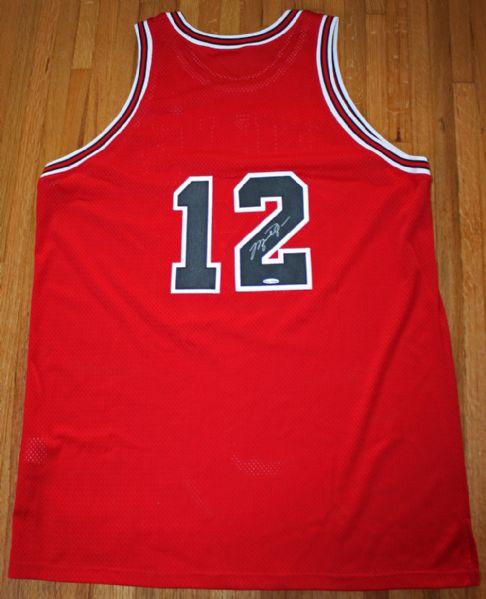4e48e1870cf Michael Jordan RARE Signed Chicago Bulls #12 Jersey (Jersey # Worn in 1  Game ...