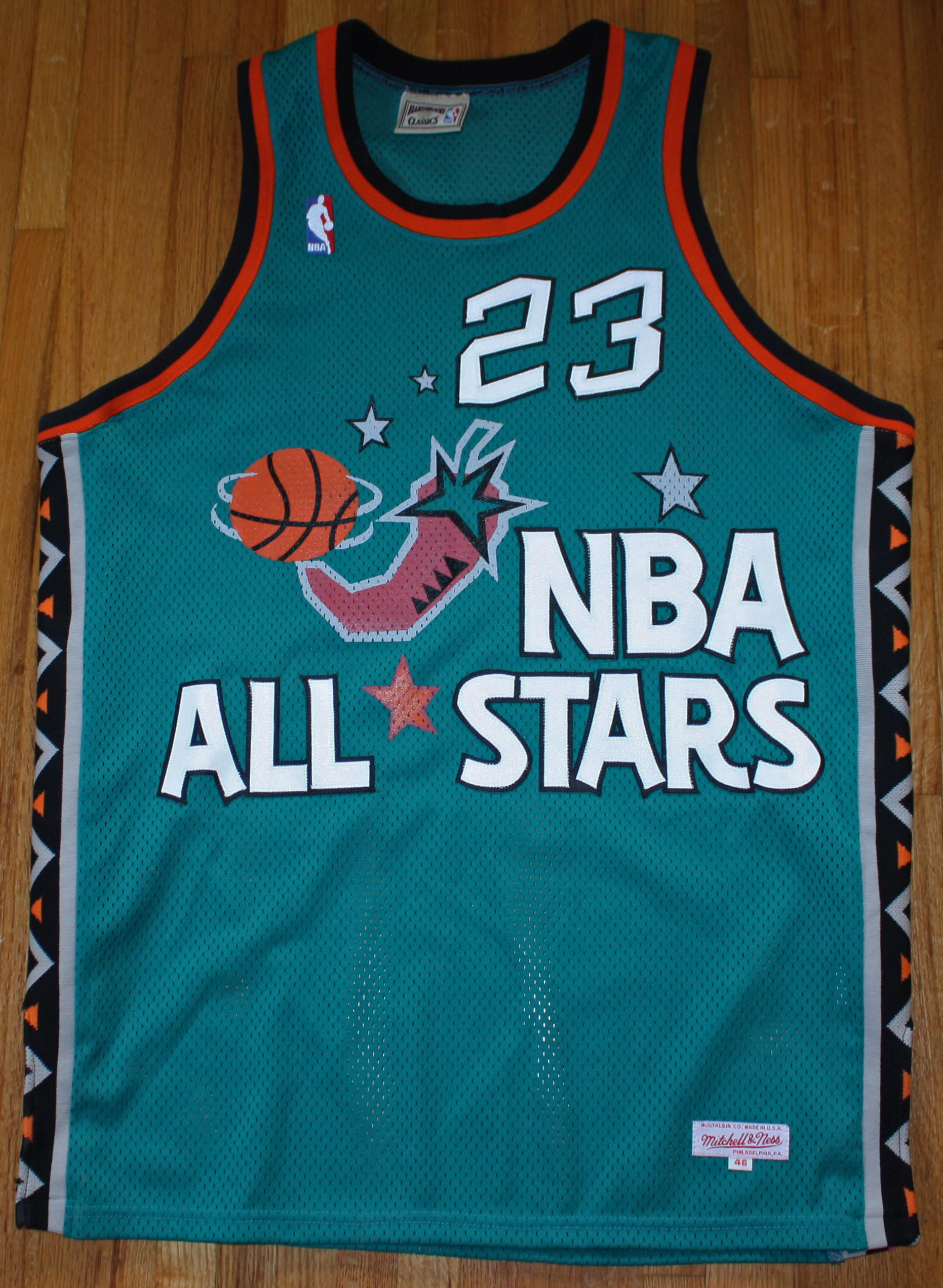 fbffcf89d56e ... Michael Jordan Signed Mitchell   Ness 1996 NBA All-Star Game Jersey  (UDA) ...