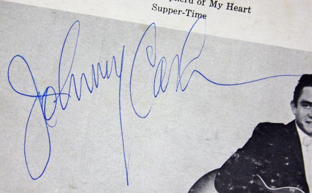 Lot Detail Johnny Cash Rare Vintage Signed Album Quot The