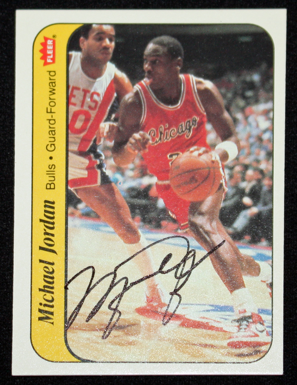 Lot Detail 1986 Fleer Michael Jordan Signed Rookie Sticker