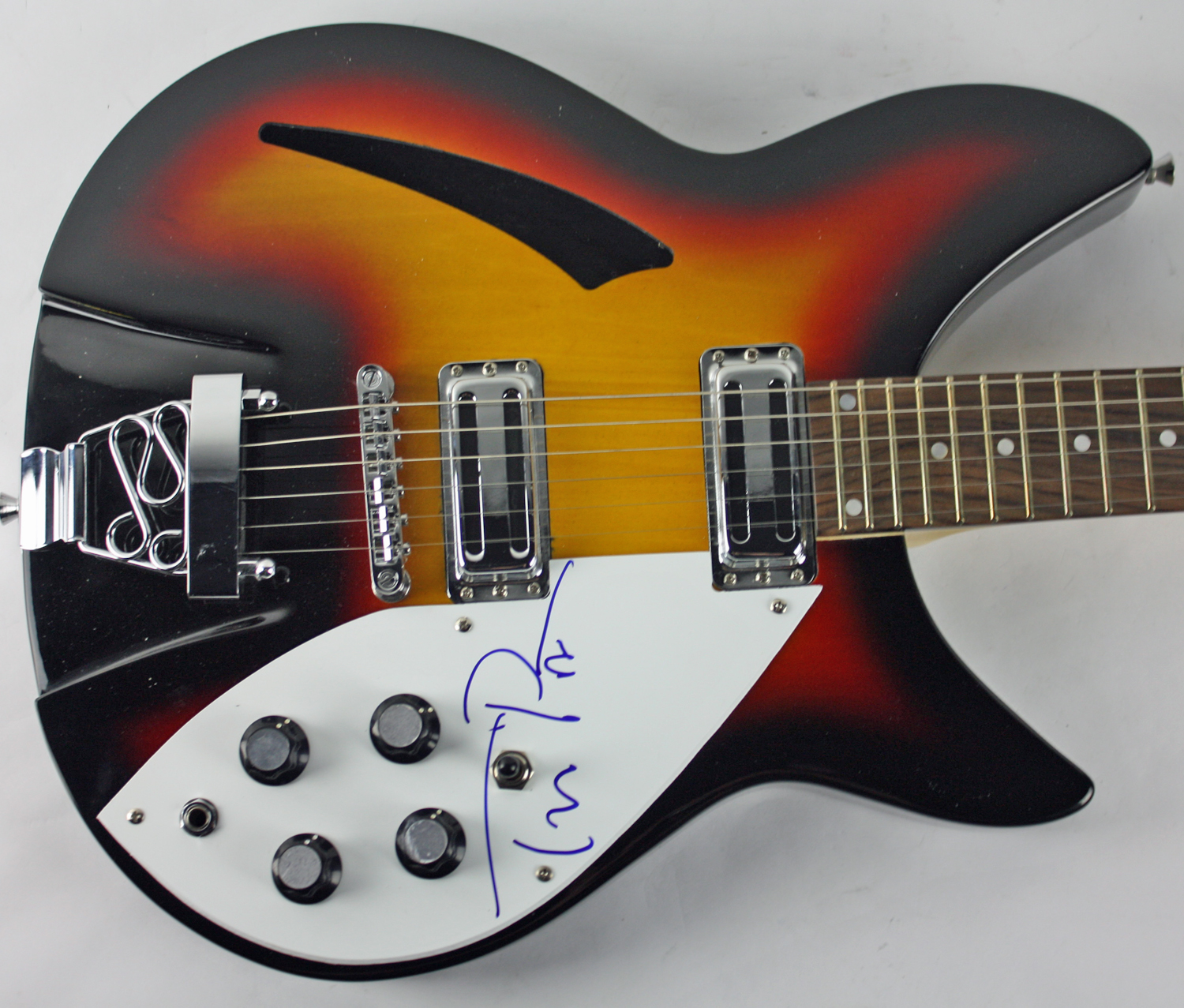 lot detail tom petty impressive signed rickenbacker style electric guitar psa dna