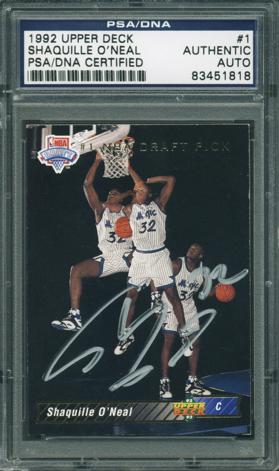 Lot Detail 1992 Upper Deck Shaquille Oneal Signed Rookie
