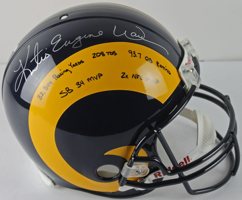 free shipping 76866 fceed Lot Detail - Kurt Warner RARE Signed Rams PROLINE Helmet ...