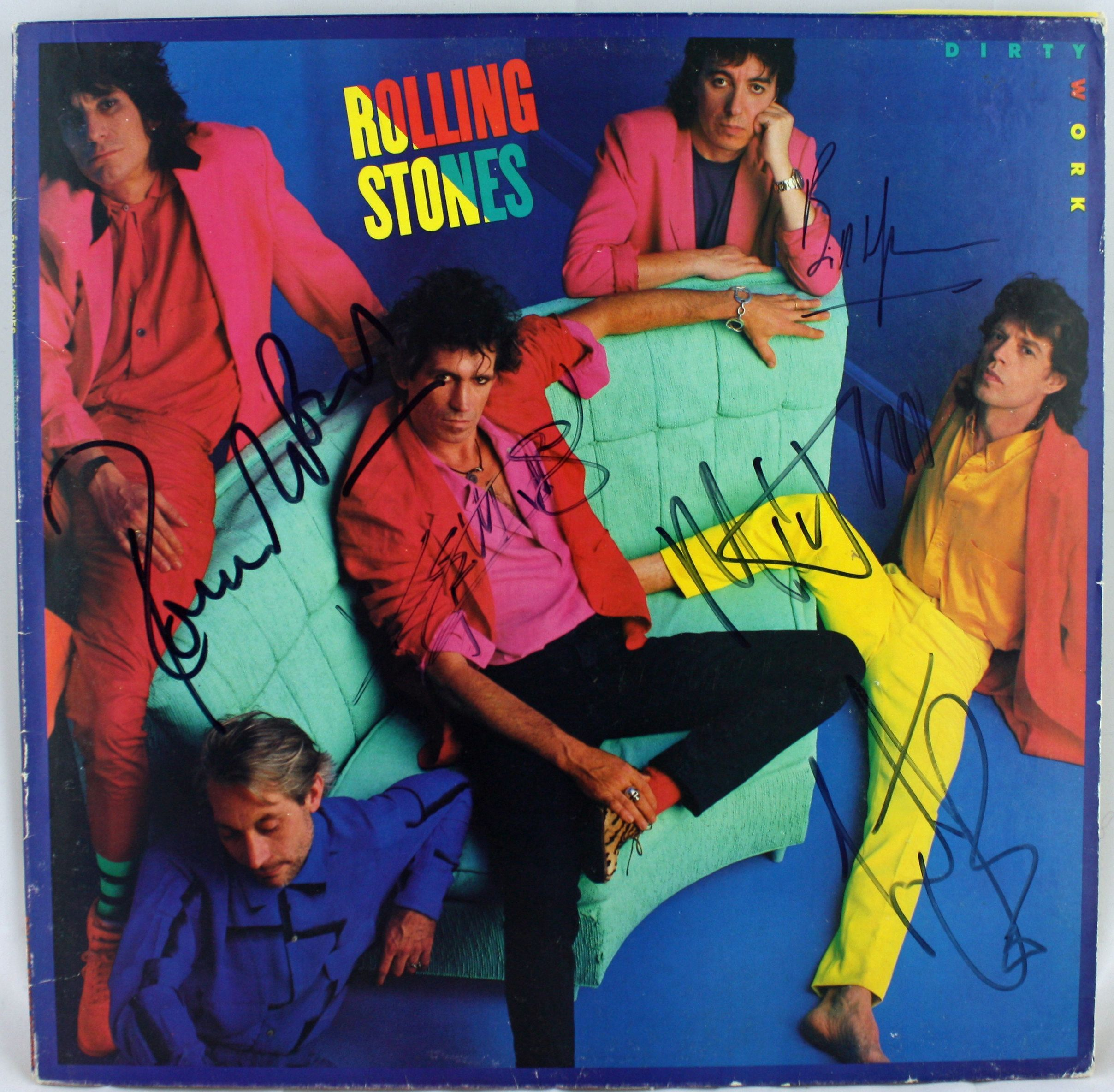 Lot Detail - The Rolling Stones: Group Signed Dirty Work