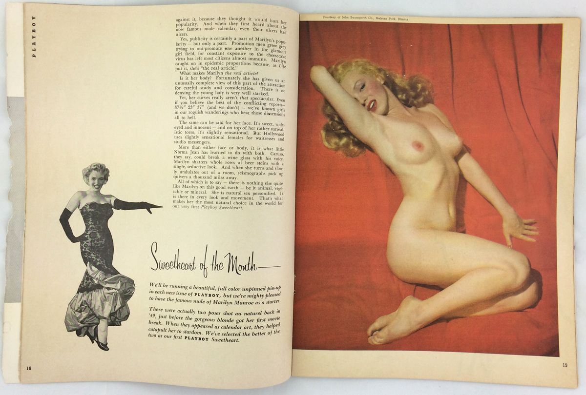 Marilyn Monroes nude photos in Playboys stunning