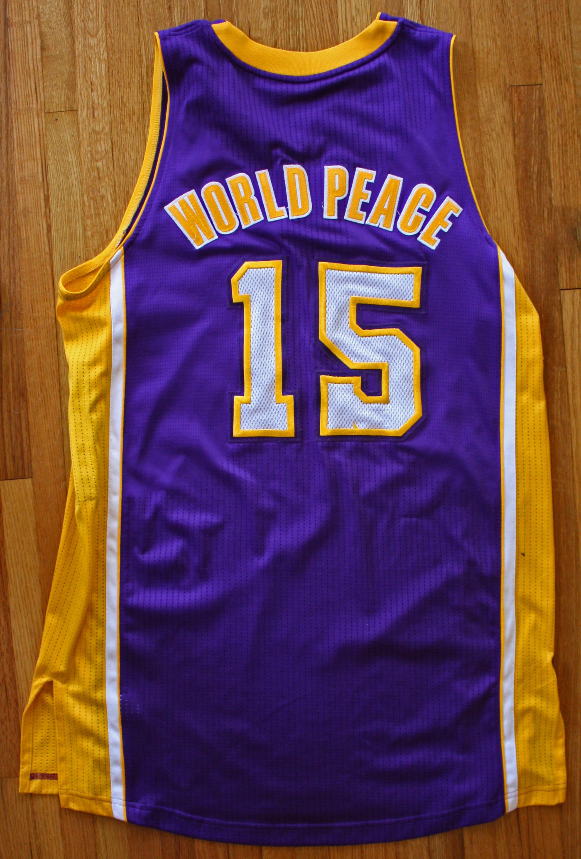 52e48b3ce2d ... 2012-2013 Metta World Peace (Ron Artest) Game Worn Jersey (DC Sports ...