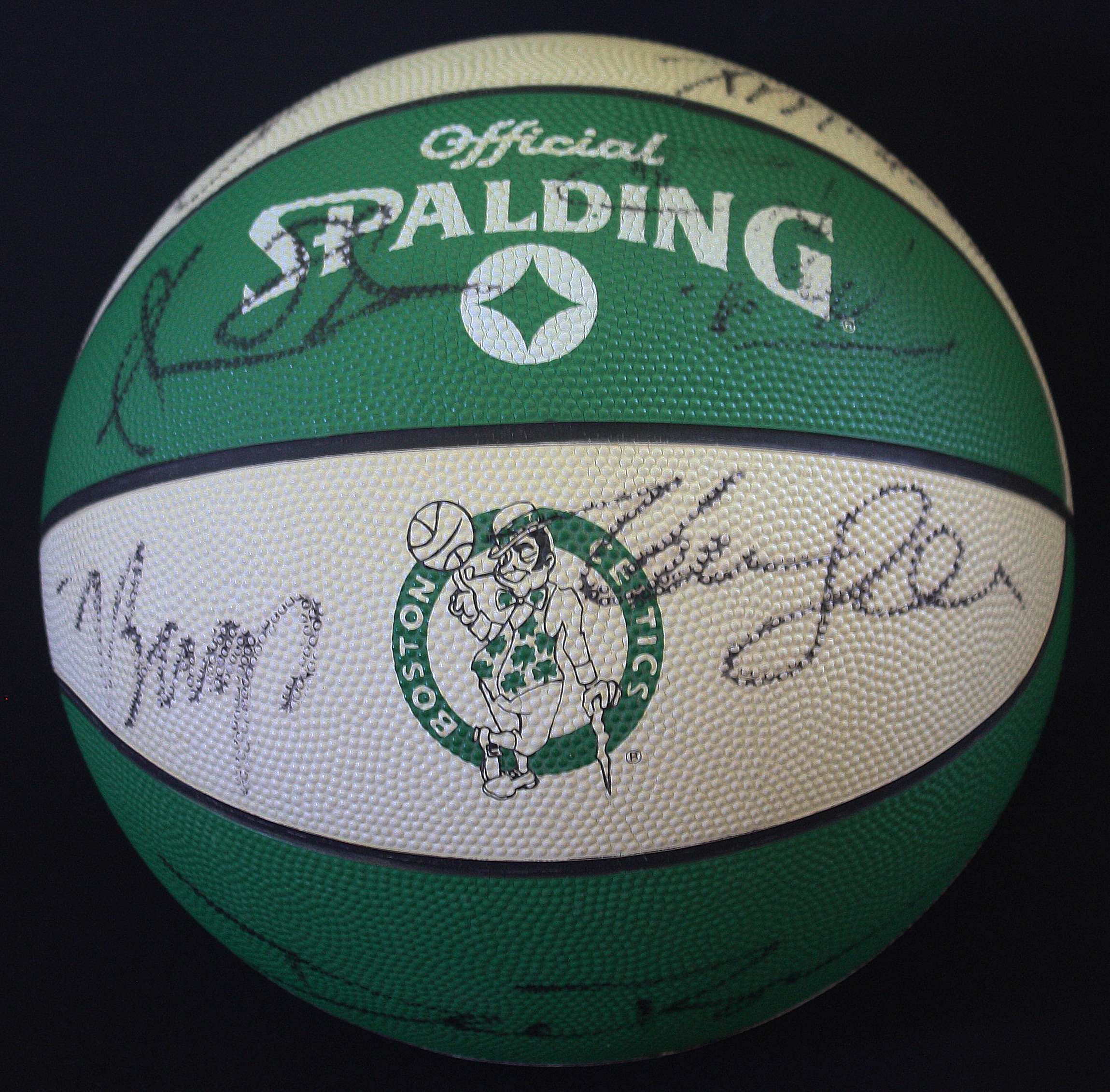 Lot Detail 1992 Boston Celtics Team Signed Logo Basketball w