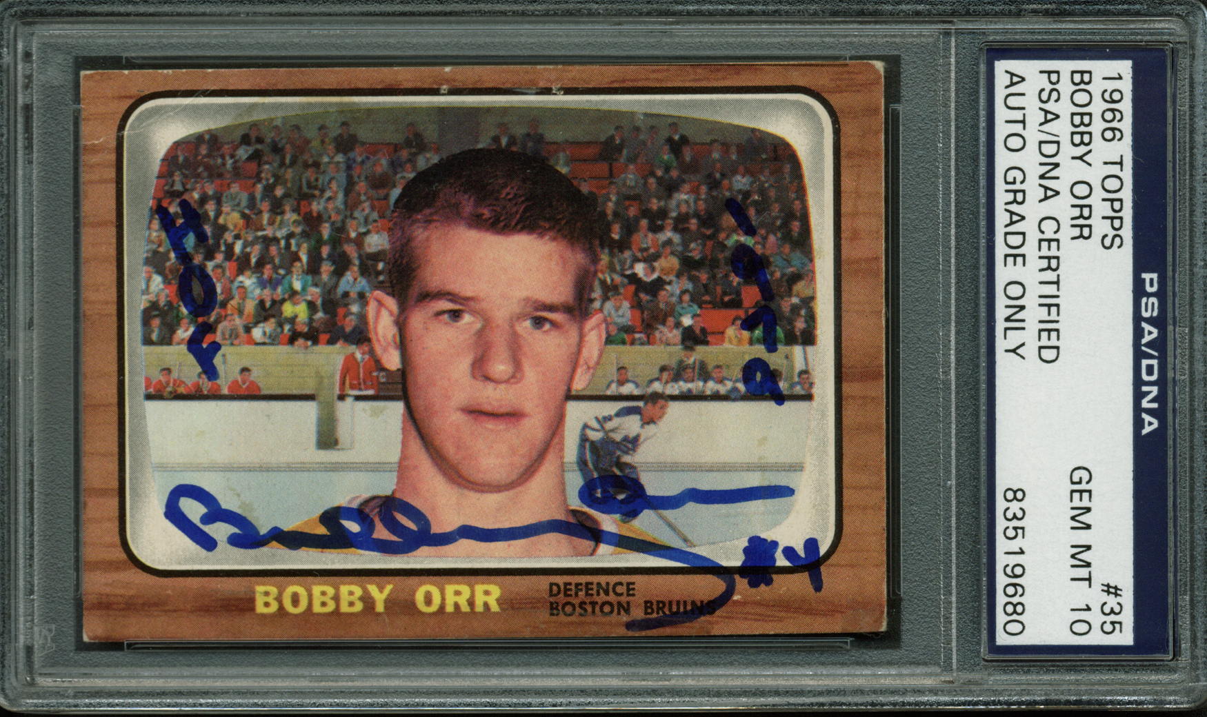 Lot Detail Bobby Orr Ultra Rare Signed 1966 Topps Rookie