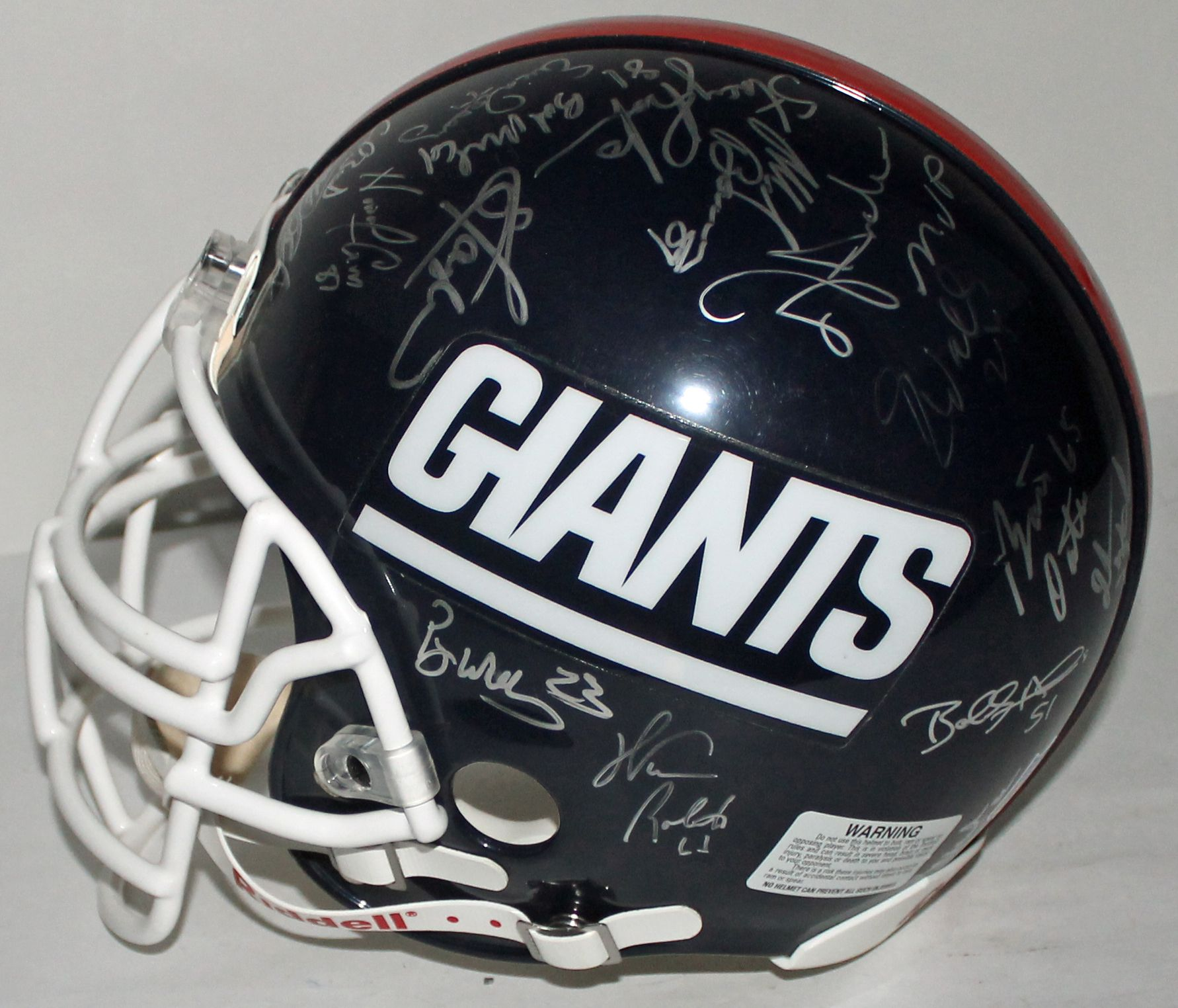 bdb9462ce Super Bowl XXV Team Signed New York Giants PROLINE Helmet w/ 33 Signatures!