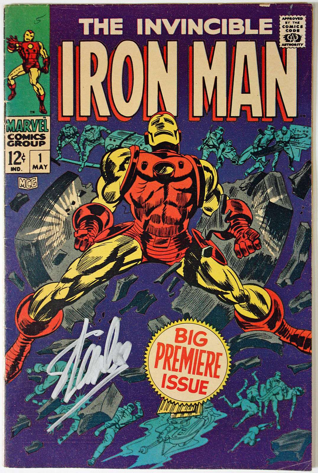 "lot detail  stan lee signed original 1968 ""the invincible"