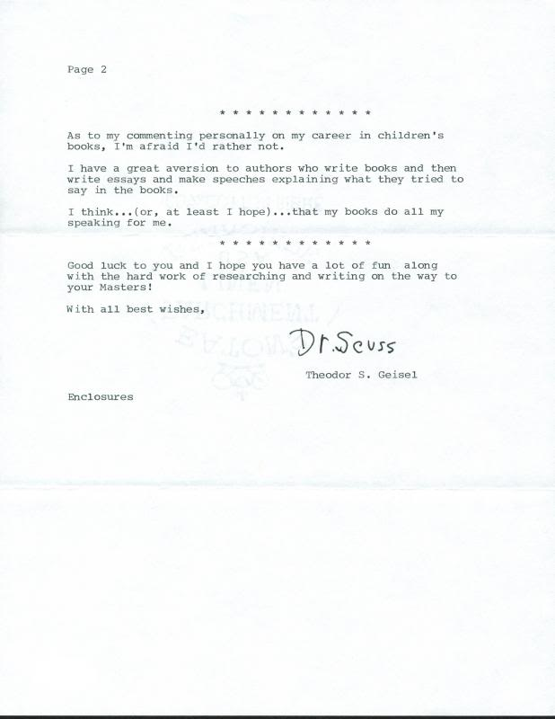 lot detail dr seuss rare signed letter on personal letterhead w  dr seuss rare signed letter on personal letterhead w great content psa