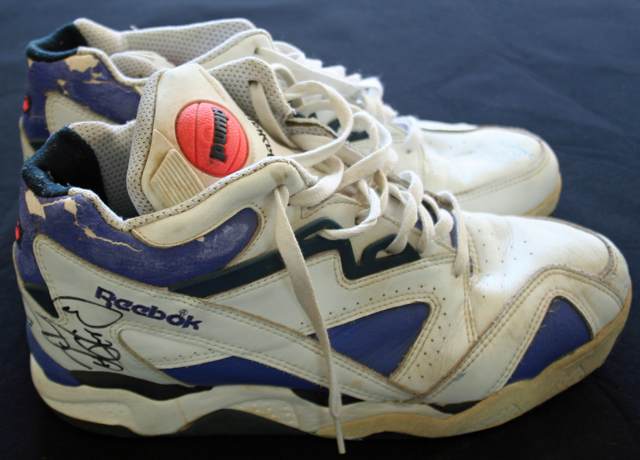 a9c68641acd c.1990s Dennis Rodman Game Worn   Signed Reebok Basketball Sneakers (ex.
