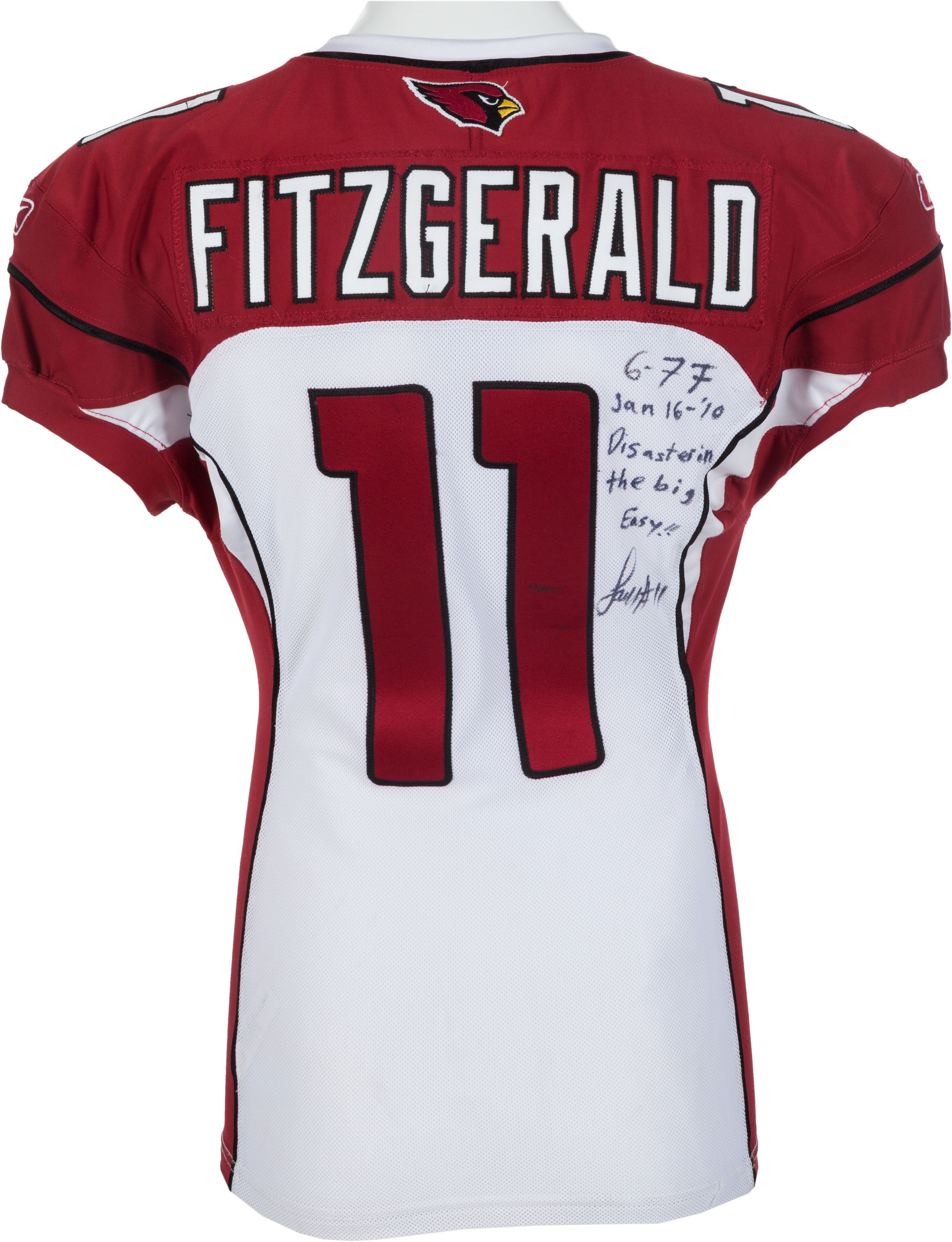 low priced fc7ea 4beb9 Lot Detail - 2010 Larry Fitzgerald Game Worn, Signed ...