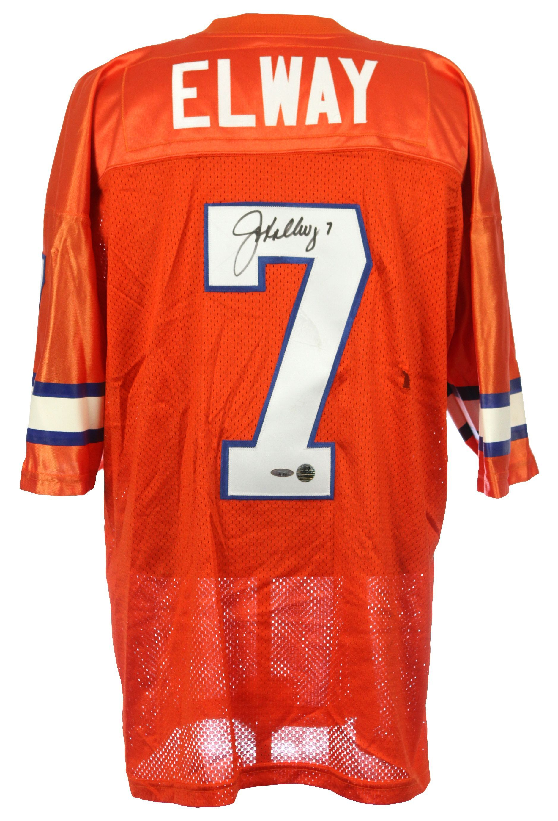 save off faa41 1d6ea Lot Detail - John Elway Signed Denver Broncos Orange Crush ...